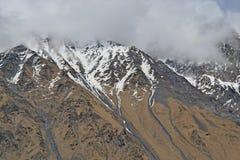 I picchi nevosi del Caucaso Fotografia Stock