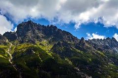 I picchi rocciosi di alta montagna di Tatras Immagine Stock Libera da Diritti