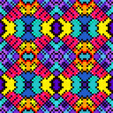 I piccoli pixel hanno colorato l'illustrazione senza cuciture di vettore del modello del fondo geometrico Fotografia Stock