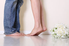 I piedi della coppia Immagine Stock