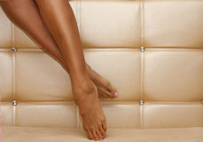 i piedini isolati bella femmina 3d rendono il bianco shapely Immagini Stock Libere da Diritti