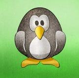 I pinguini hanno riciclato il mestiere di carta Fotografie Stock Libere da Diritti