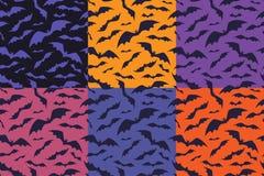 I pipistrelli modellano per Halloween Insieme di fondo senza cuciture con i pipistrelli Immagini Stock