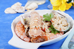 I pirated rice with seafood seafood Stock Photography