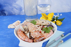 I pirated rice with seafood seafood Stock Photos