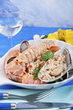 I pirated rice with seafood seafood Royalty Free Stock Image