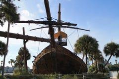 I pirati della nave caraibica piegano la vista frontale Fotografia Stock