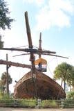 I pirati della nave caraibica piegano la vista frontale Fotografia Stock Libera da Diritti