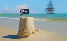 I pirati erano qui fotografie stock libere da diritti