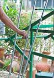 I pittori sono verniciati d'acciaio. Fotografie Stock