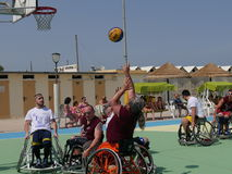I-Play Wheelchair Basket 2016 - final match Royalty Free Stock Image