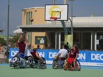 I-Play Wheelchair Basket 2016 - final match Stock Photos