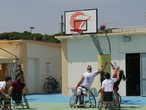 I-Play Wheelchair Basket 2016 - qualifier Royalty Free Stock Photography
