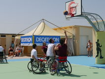 I-Play Wheelchair Basket 2016 - qualifier Stock Image
