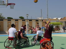 I-Play Wheelchair Basket 2016 - qualifier Stock Photos