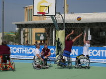 I-Play Wheelchair Basket 2016 - qualifier Royalty Free Stock Image