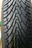 I pneumatici del passo Fotografie Stock
