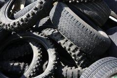 I pneumatici di aria compressa riciclano l'industria di ecologia Immagini Stock