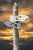 2016 i 2017 pojęcie Fotografia Royalty Free