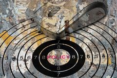 I Policy target concept Stock Images