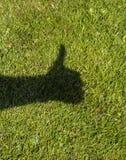 I pollici aumentano l'ombra Fotografie Stock Libere da Diritti