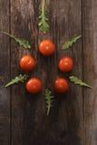 I pomodori ciliegia Immagini Stock