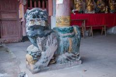 I ponti antichi del ponte star diretto a nord capo vicino al tempio di Qinghua ---- Tempio Fotografia Stock