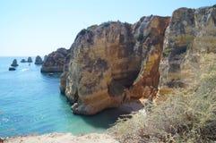 """I Portoghesi abbelliscono - mare ed oscillano il †""""il sud del Portogallo fotografia stock"""