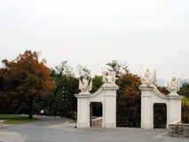 I portoni del castello a Bratislava Fotografie Stock