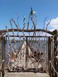 I portoni del legname galleggiante Fotografia Stock
