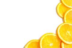 I precedenti arancio affettati Immagini Stock Libere da Diritti