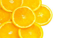 I precedenti arancio affettati fotografia stock