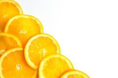 I precedenti arancio affettati Fotografie Stock