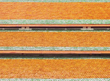I precedenti arancio di struttura del tetto Immagine Stock