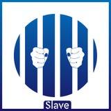 I precedenti bianchi blu dello schiavo ENV illustrazione vettoriale