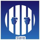 I precedenti bianco-blu dello schiavo ENV illustrazione di stock