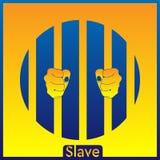I precedenti blu-gialli dello schiavo ENV royalty illustrazione gratis