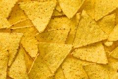 I precedenti dei chip dei nachos Immagine Stock