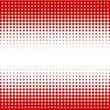 I precedenti dei punti rossi delle dimensioni differenti hanno densità differente su bianco illustrazione vettoriale