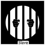 I precedenti del nero dello schiavo ENV illustrazione vettoriale