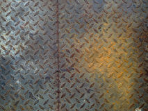 I precedenti del piatto del diamante del metallo di danno fotografie stock