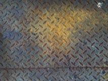 I precedenti del piatto del diamante del metallo di danno Fotografia Stock Libera da Diritti