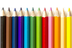 I precedenti delle matite colorate Immagine Stock Libera da Diritti