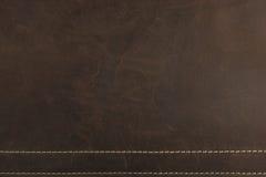 I precedenti e la struttura del cuoio di Nubuck di marrone scuro illustrazione di stock