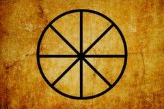 I precedenti magici dell'annata di simboli di simbolo di Sabbats royalty illustrazione gratis