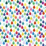 I precedenti piovosi colorati caotici Autumn Rain di caduta di goccia del modello dell'acquerello di colore della goccia di acqua Fotografie Stock
