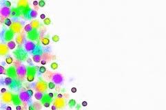 I precedenti sono dipinti con le macchie colorate Fotografia Stock Libera da Diritti