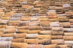 I precedenti strutturati di un tetto ceramico delle mattonelle Immagine Stock Libera da Diritti