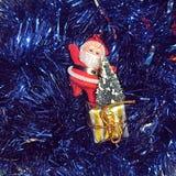 I presente da Santa Claus Immagini Stock