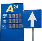 I prezzi per benzina Fotografie Stock Libere da Diritti